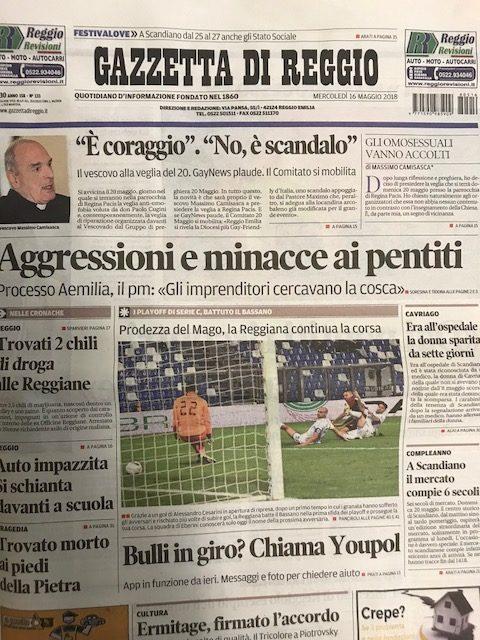 """Comunicato del """"Gruppo di Preghiera 20 maggio"""" sui recenti fatti di Reggio Emilia"""