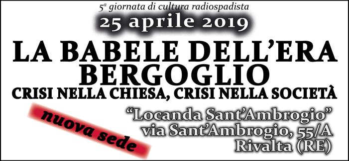"""25 aprile radiospadista 2019 (nuova sede): con don Nitoglia, Viglione, Fumagalli, Seveso e il misterioso autore di """"Cosa Vostra"""""""