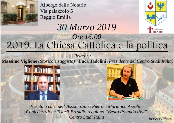 2019. La Chiesa Cattolica e la politica