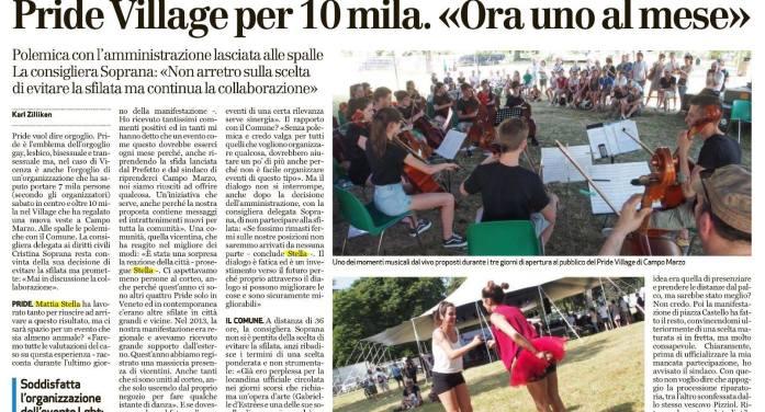 A Vicenza il Comune (Civiche, Lega, FI, FdI) è pro Pride, con cons. di maggioranza che attacca processione