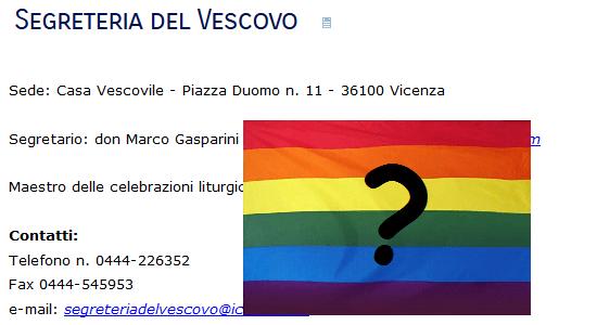"""Vicenza: tanti cattolici in strada per riparare. Il segretario del vescovo mette """"like"""" al Pride. Poi afferma: """"Non sono l'unico a usare quel profilo, non condivido"""""""