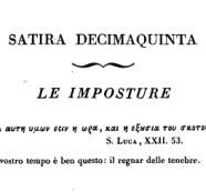 La satira antimassonica del massone Alfieri