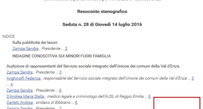 L'Anghinolfi &C.? Nel 2016 parlavano alla Comm. Infanzia della Camera dei Deputati, invitati da dep. PD