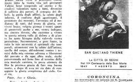 """Coroncina e preghiera a San Gaetano Thiene, il """"Santo della Provvidenza"""""""