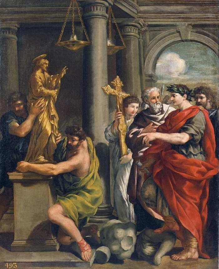 Cristo Re distruttore degli idoli demoniaci. Un pensiero di S. Agostino