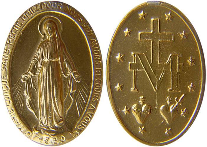 [DIFUNDE TU FE CATOLICA]  LA MEDALLA MILAGROSA, insignia de los devotos de María Inmaculada