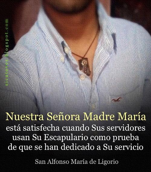 [DIFUNDE TU FE CATOLICA] EL ESCAPULARIO: INSIGNIA DE LOS ESCLAVOS DE MARÍA