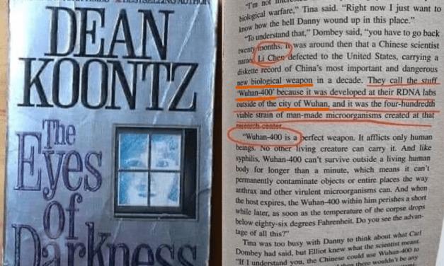 """Un romanzo di Koonz (1996) parlava del virus polmonare letale """"Wuhan-400"""": facciamo il punto"""