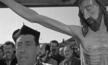 Esposto, contro il coronavirus, il Crocefisso di Don Camillo
