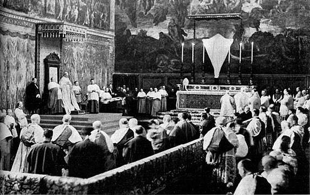 I riti del Giovedì Santo nella Corte Papale