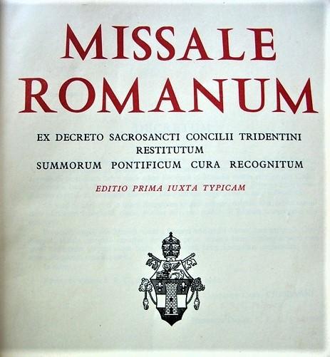 Nel Messale del '62 entrano i santi recenti e sette nuovi prefazi.
