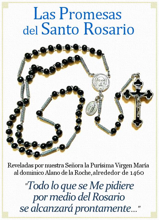 [DIFUNDE TU FE CATOLICA] LOS GRANDES BENEFICIOS que podemos obtener por medio del rezo diario del Santo Rosario. Promesas de Ayuda y Consuelo de la Virgen María
