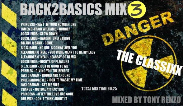 Back2Basics Mix 3 The Classixx Tony Renzo