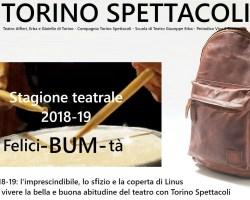 Lunedì 11 giugno dalle 18.30 una puntata speciale di Poltronissima interamente dedicata al Cartellone Torino Spettacoli 2018-2019 con tantissimi ospiti.