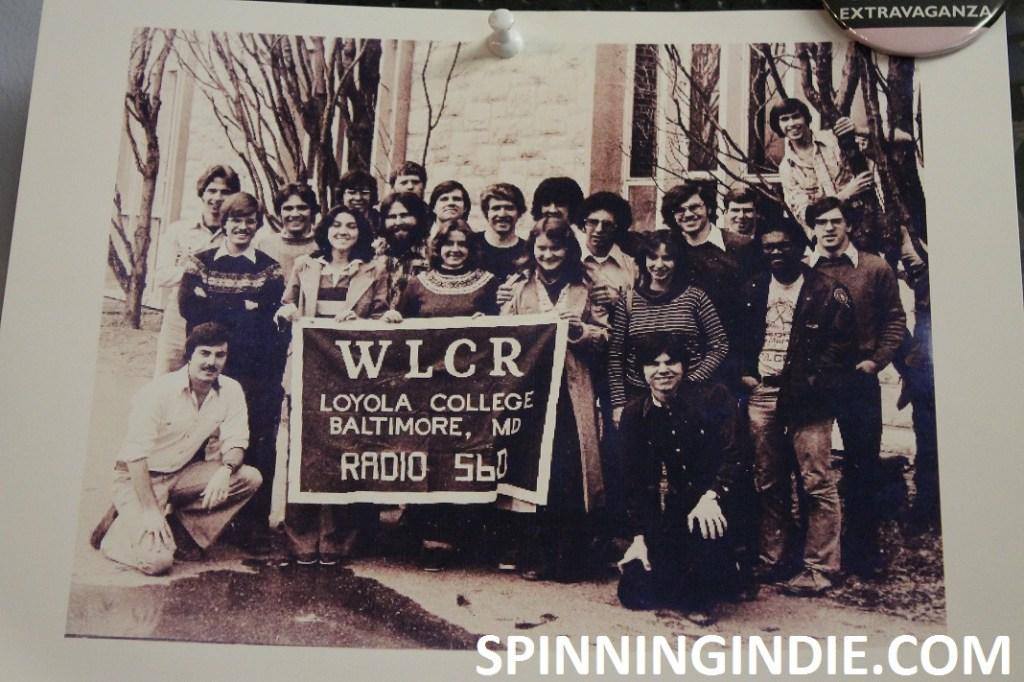 vintage staff photo from college radio station WLCR