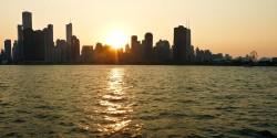 Chicago-Skyline-at-Sunset