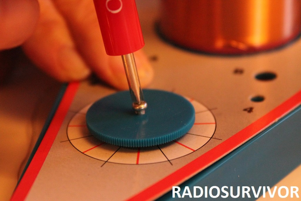 attaching the radio dial