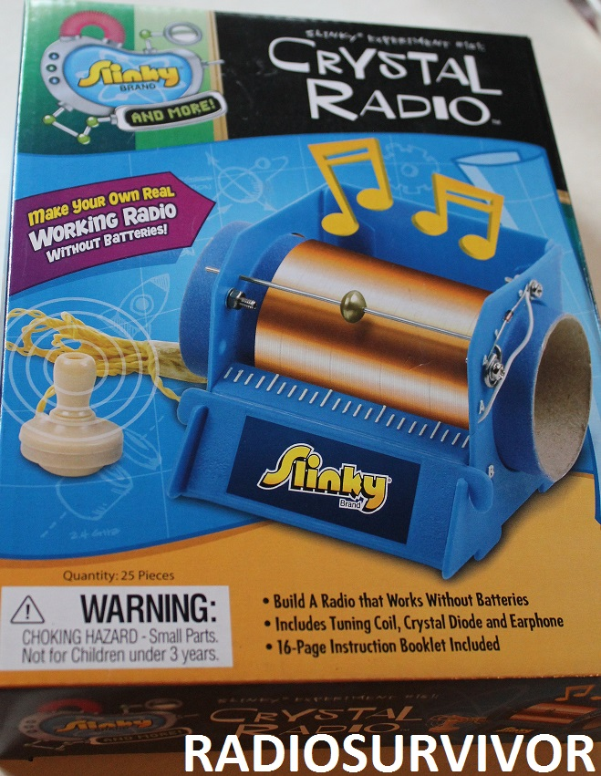 Slinky Crystal Radio kit box