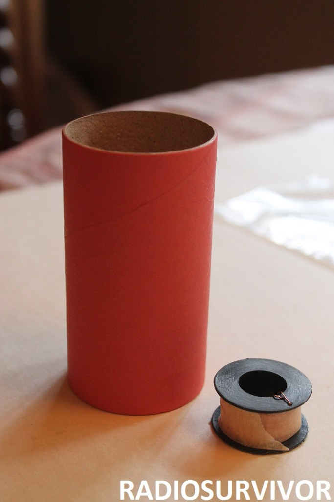 paper tube and spool of wire