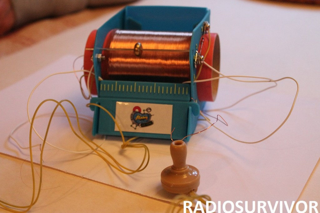 completed Slinky Crystal radio
