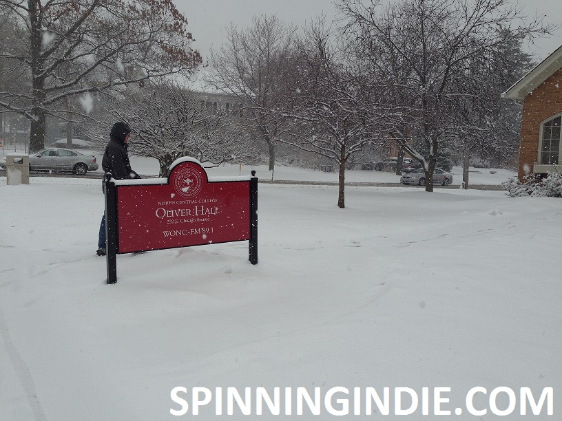 Arriving at WONC in the snow
