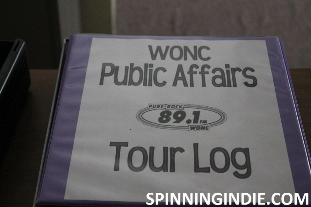 WONC tour log
