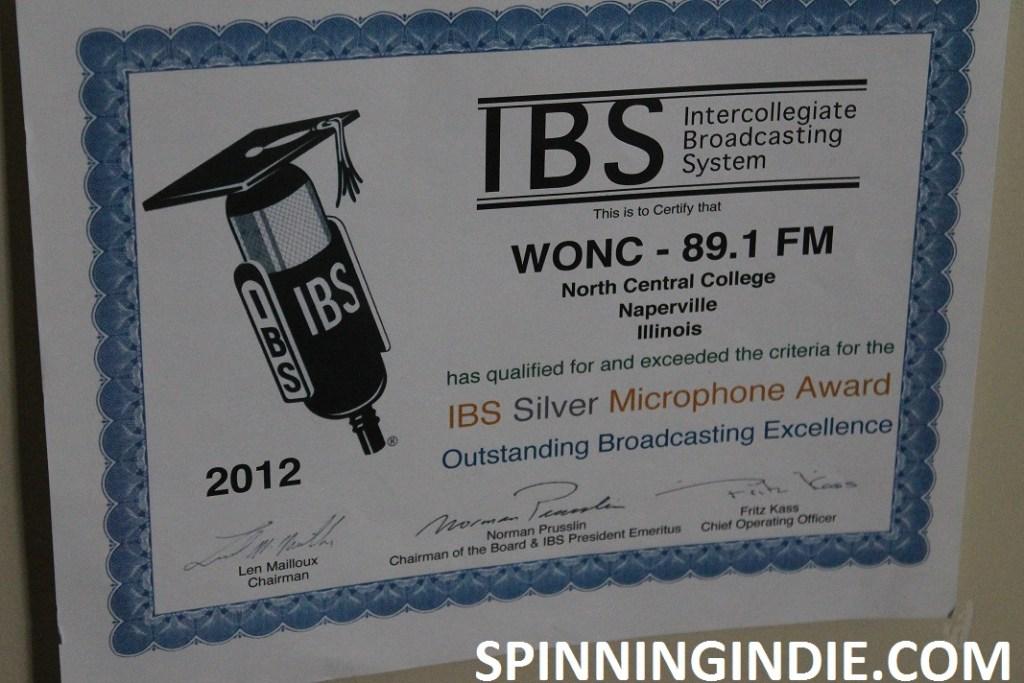 WONC IBS award from 2012