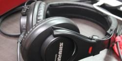 headphones at college radio station 9th Floor Radio