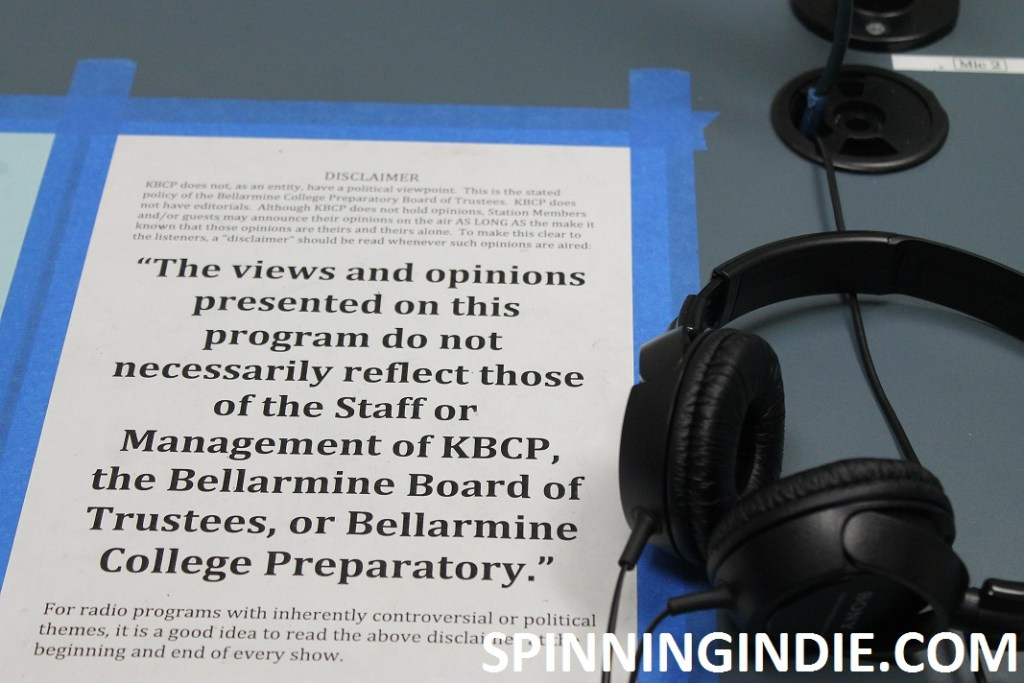 Disclaimer statement at KBCP