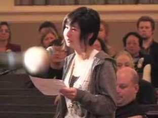 Speaker at Seattle's FCC hearing on its media ownership rules held in 2007.