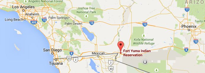 Fort Yuma reservation map