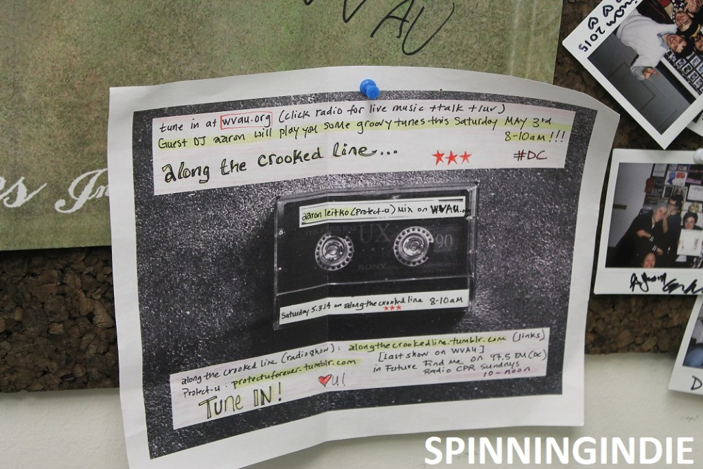 cassette-themed flyer for college radio show at WVAU