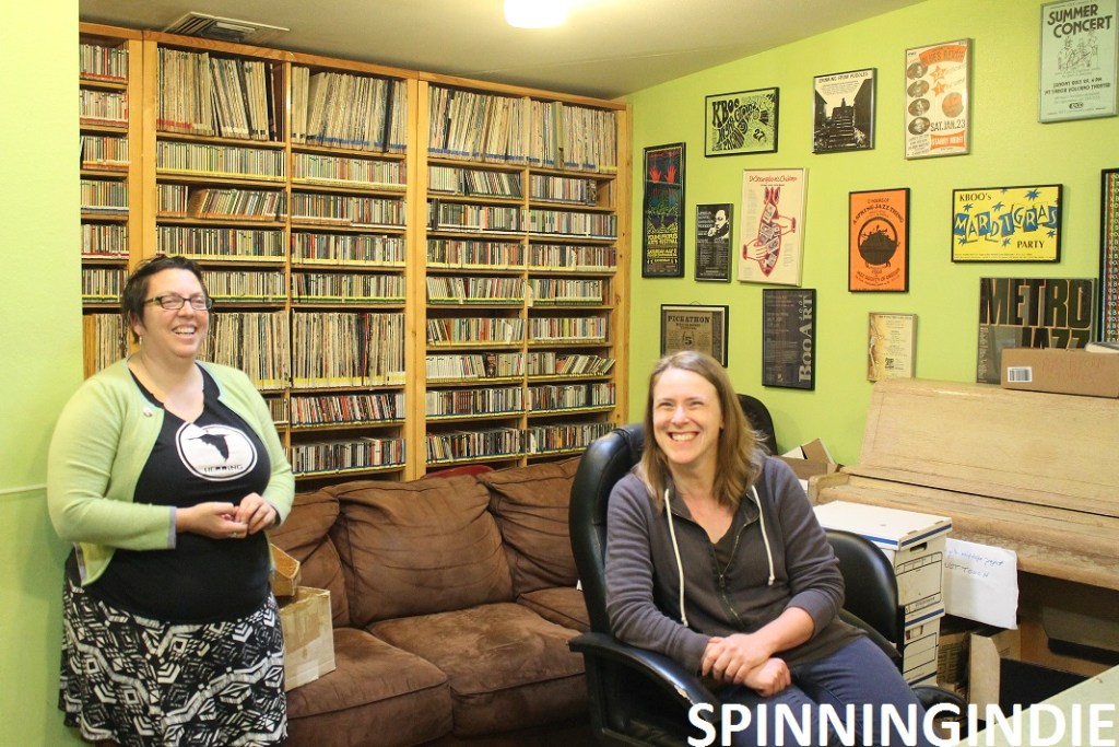 Erin Yanke and Becky Meiers in Studio 1 at KBOO. Photo: J. Waits