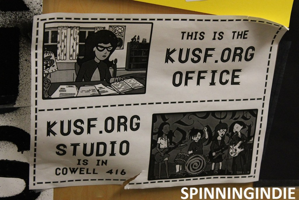 Sign at KUSF.org. This is the KUSF.org office. Photo: J Waits