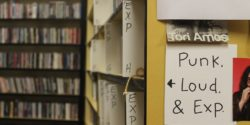 Punk, Loud & Experimental section of college radio station KAOS' record library. Photo: J. Waits