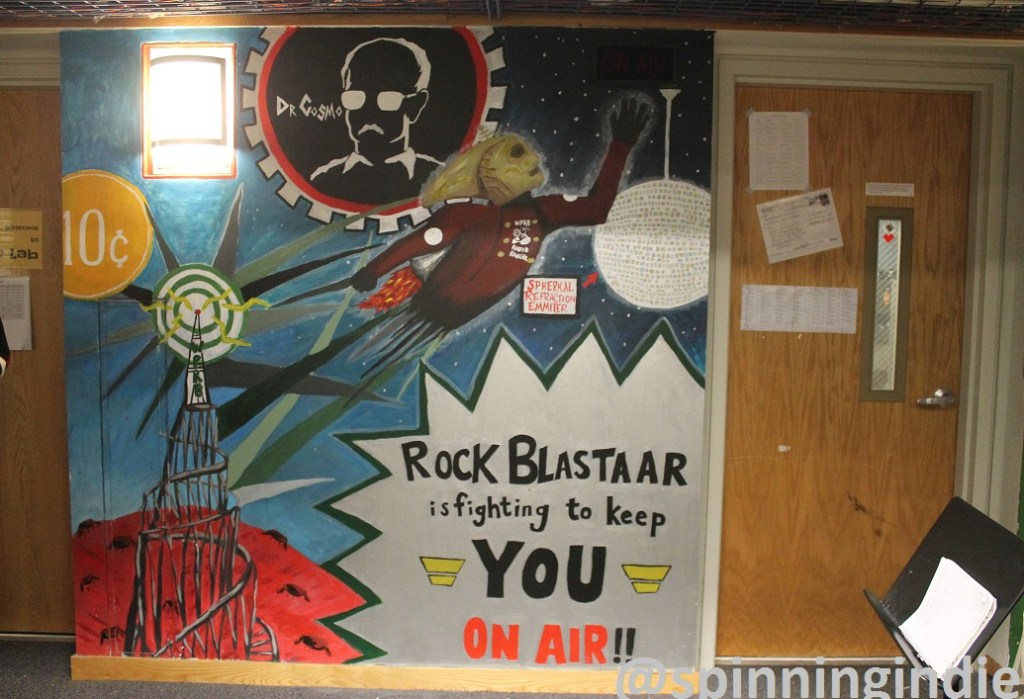 Mural in WPRB record library. Photo: J. Waits