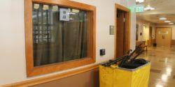 Entrance to college radio station The SOCC. Photo: J. Waits