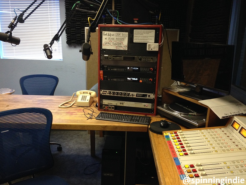 KUCI production studio with ISDN capabilities. Photo: J. Waits