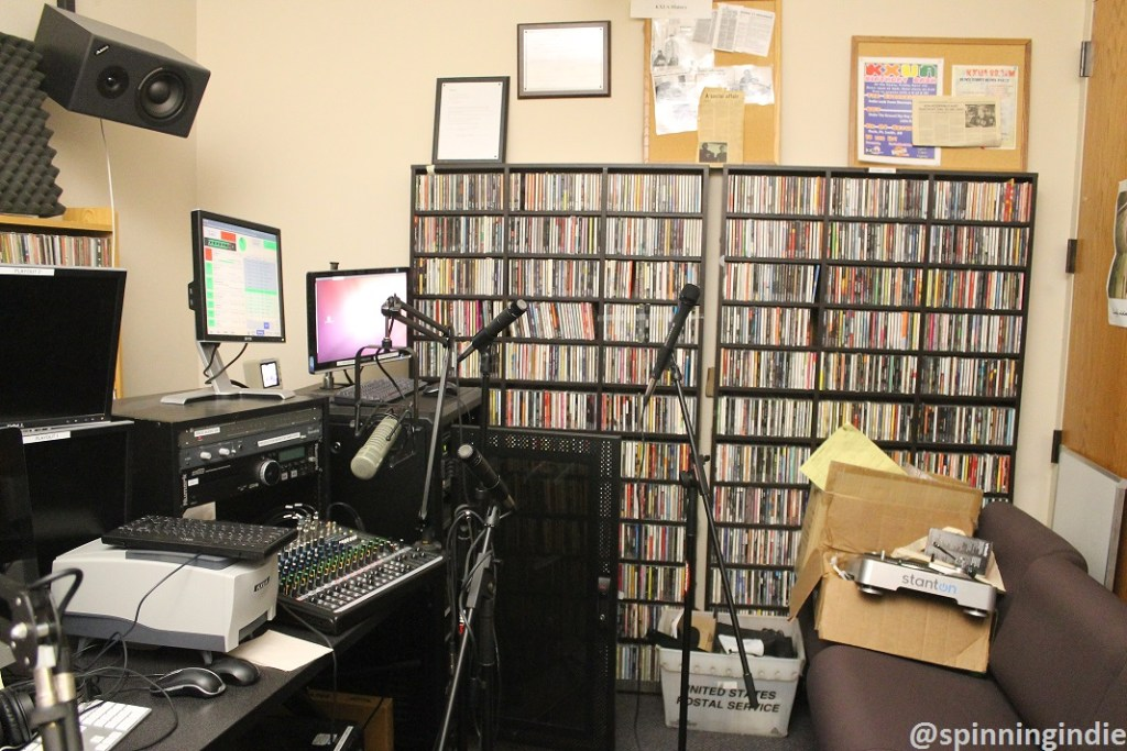 KXUA's recording studio. Photo: J. Waits