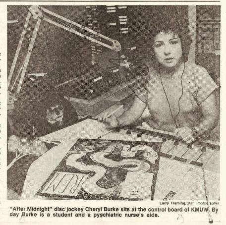 """After Midnight"" disk jockey Cheryl Burke"