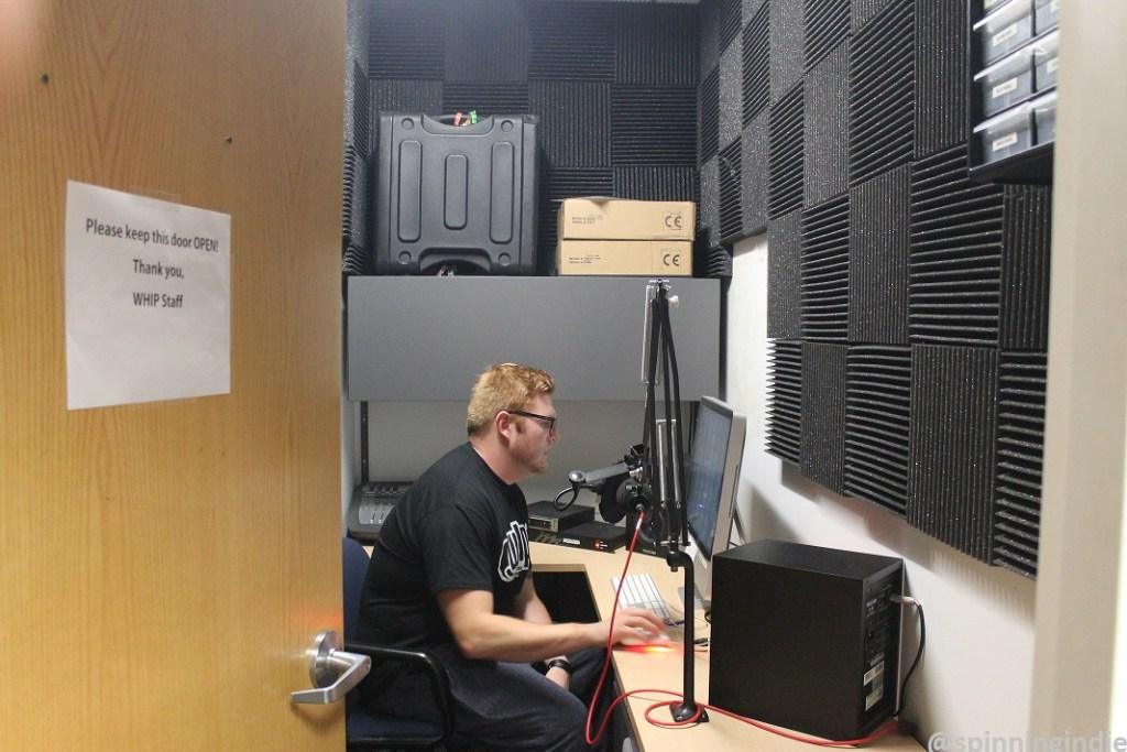 Eric White in WHIP production studio. Photo: J. Waits