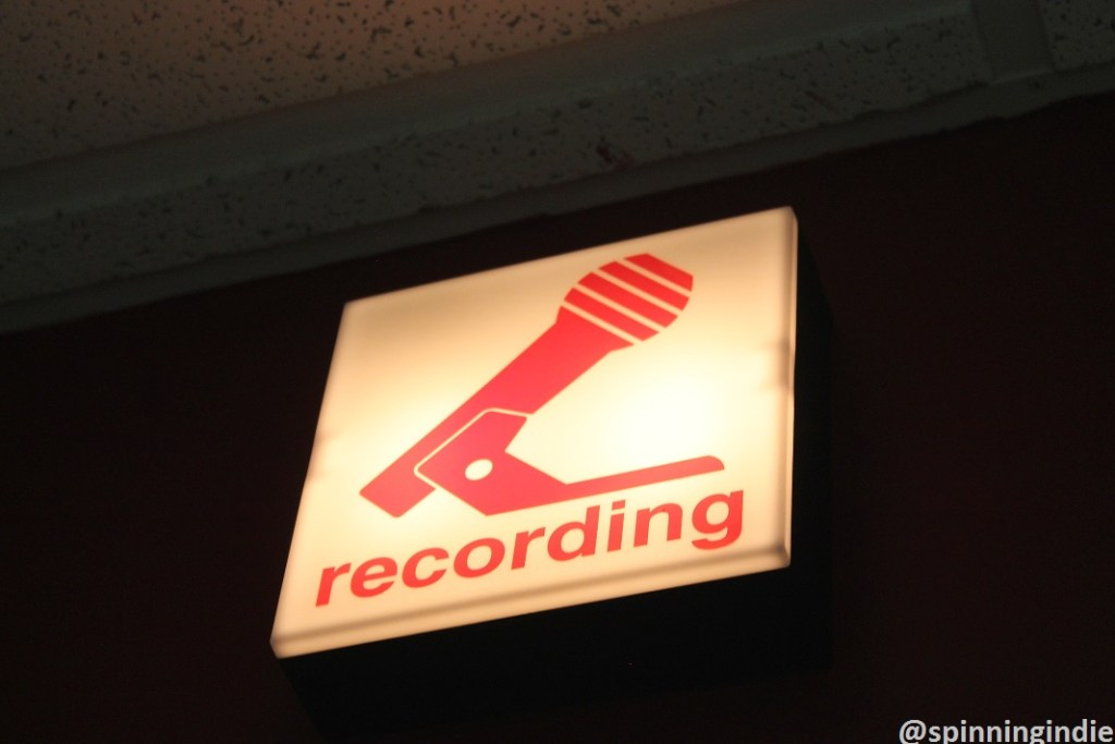 Recording sign at WHIP. Photo: J. Waits