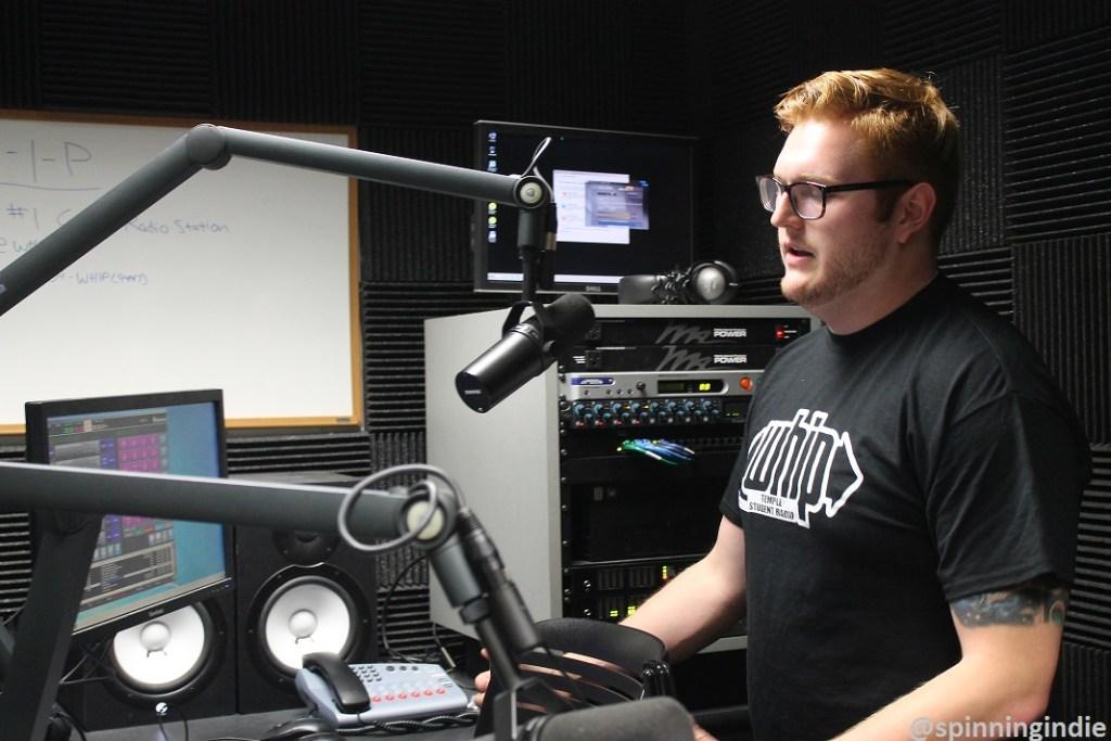 Eric White in WHIP studio. Photo: J. Waits