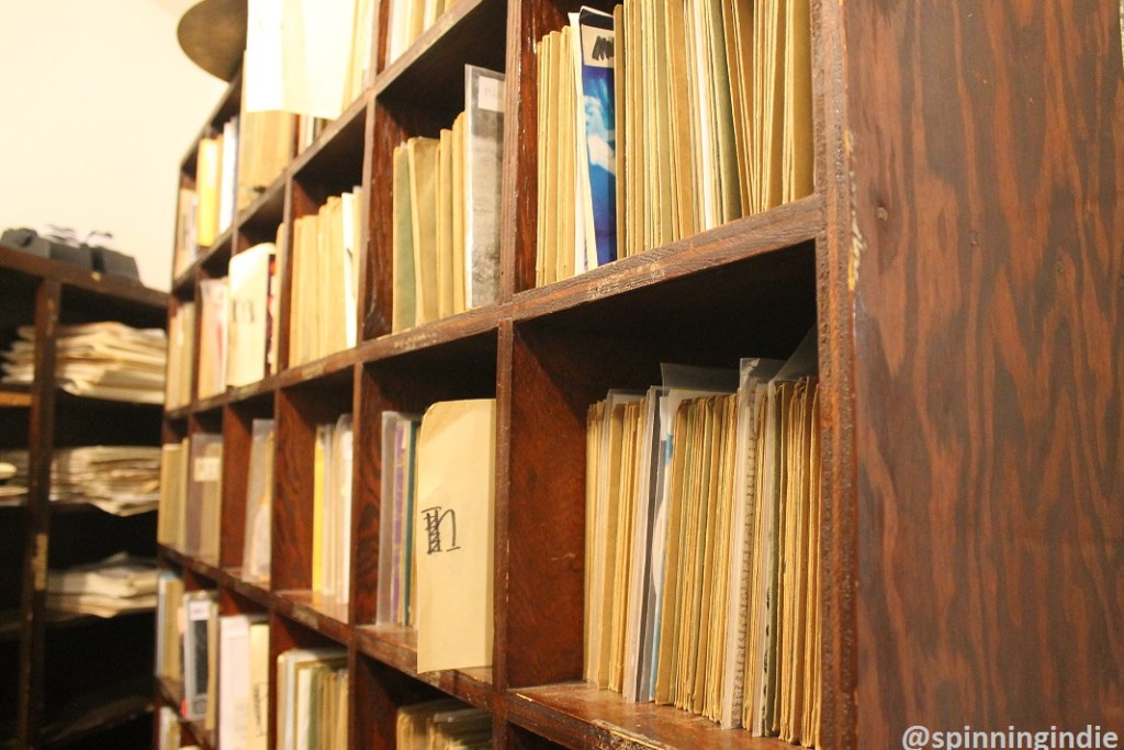 "College radio station WCWM's library of 7"" vinyl records. Photo: J. Waits"