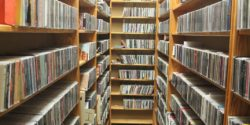 CD library at college radio station WKDU. Photo: J. Waits
