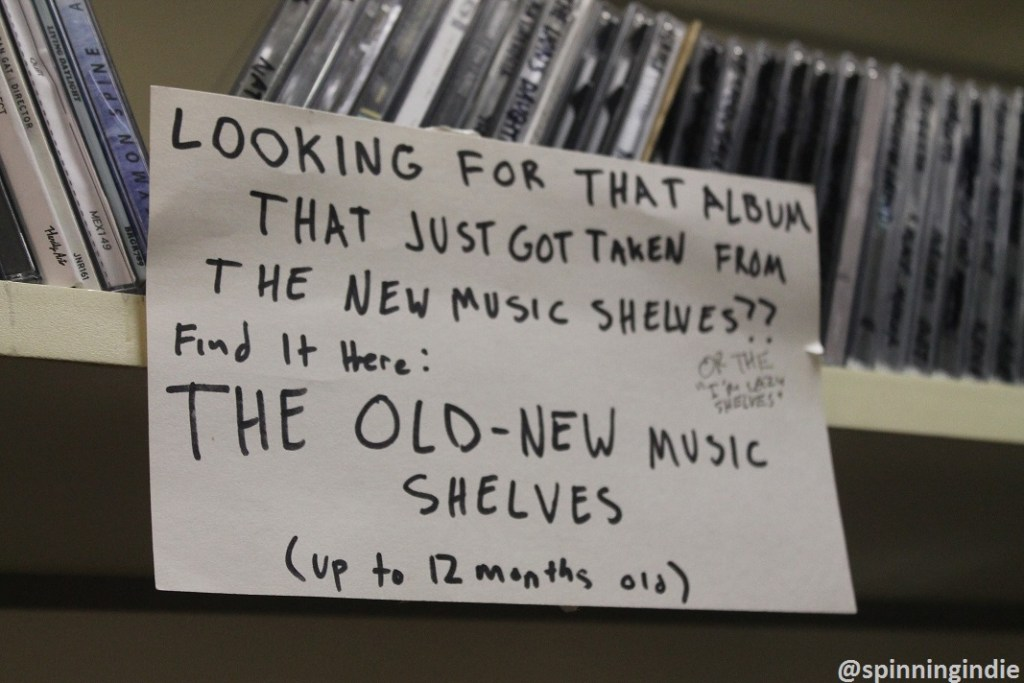 CDs at WKDU. Photo: J. Waits