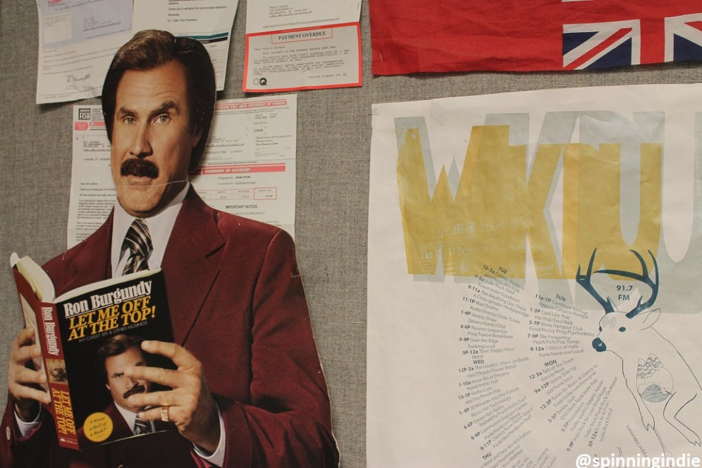Ron Burgundy at WKDU. Photo: J. Waits