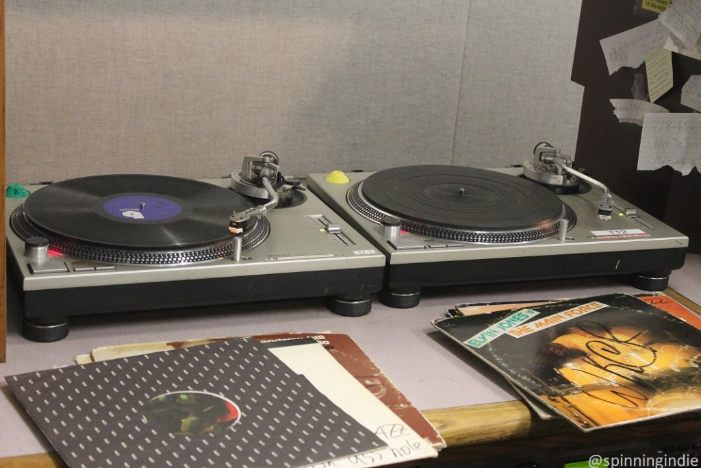 Turntables at WKCR. Photo: J. Waits