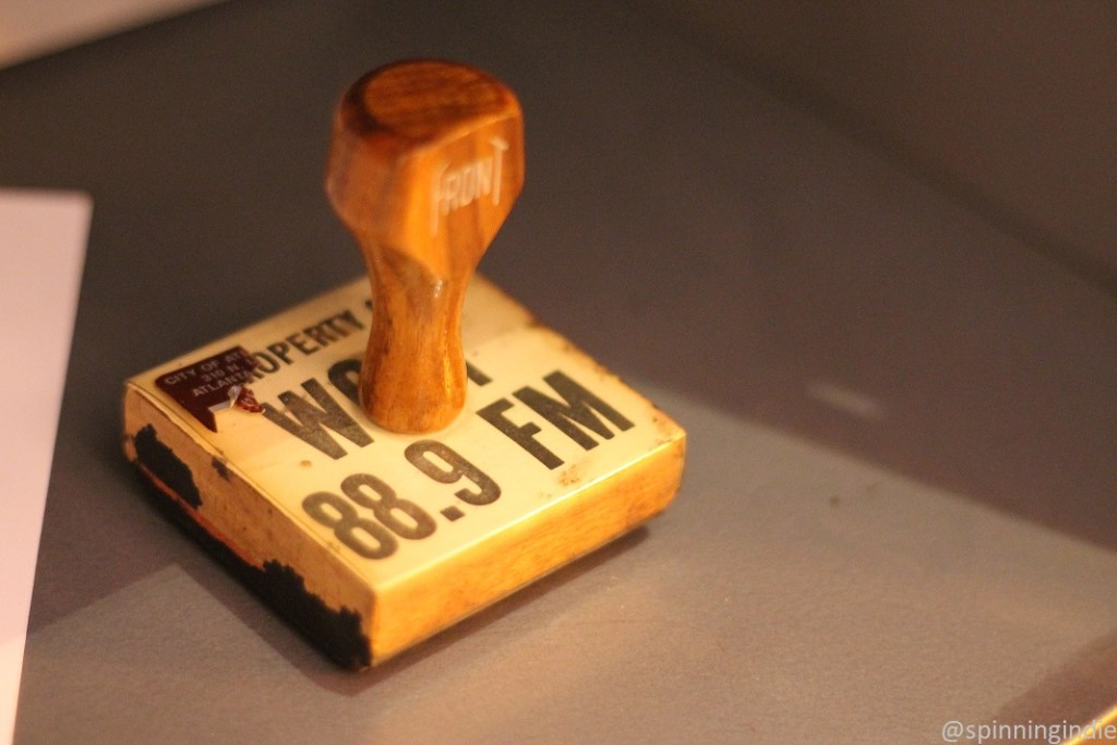Stamp from IIT radio station's days as WOUI. Photo: J. Waits