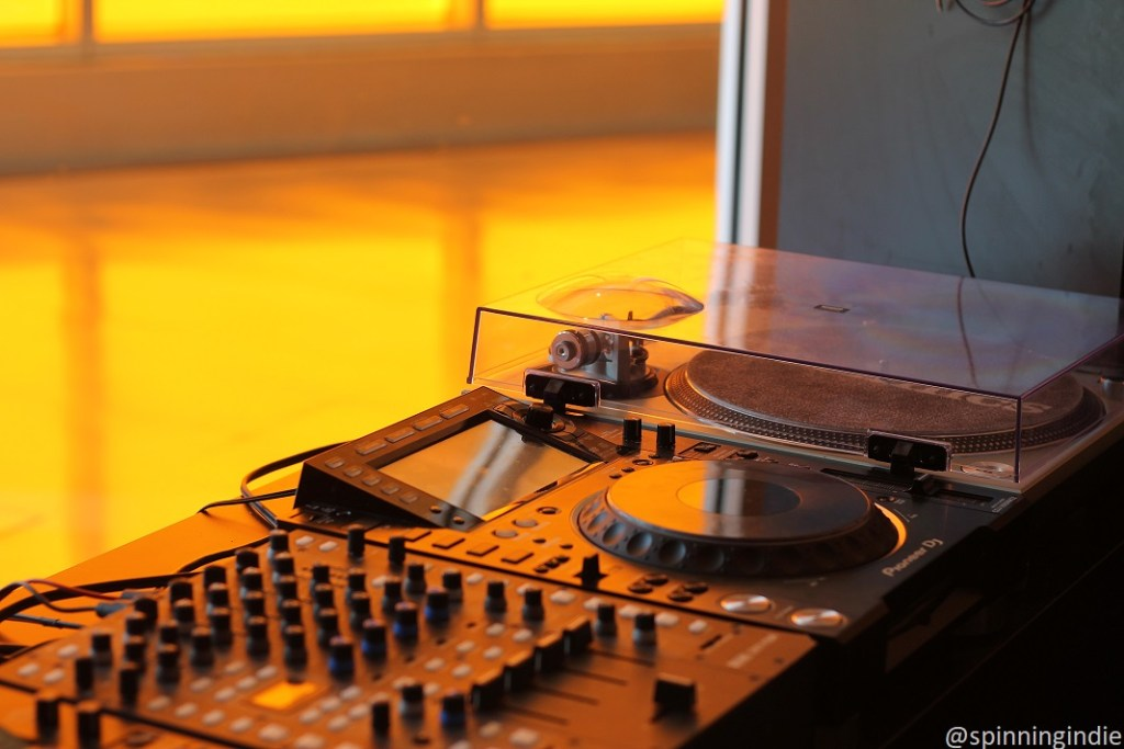 Turntables in WIIT studio. Photo: J. Waits